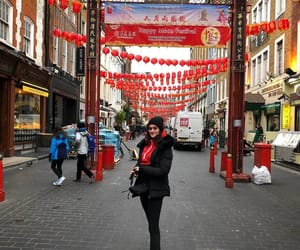 chinatown, girl, and happy image