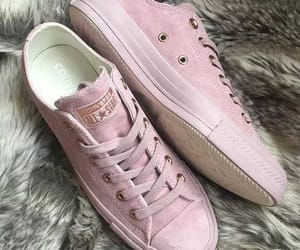 pink, tenis, and pinkconverse image