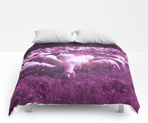 comforter, nature photography, and bedroom image