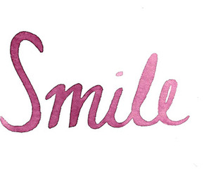smile, pink, and text image