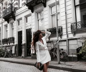 fashion, girl, and building image