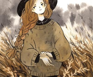 animation, autumn art, and anime witch girl image