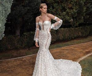 bridal gown, dress, and wedding wedding dress image