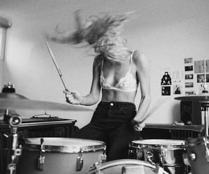 drums, music, and girl image