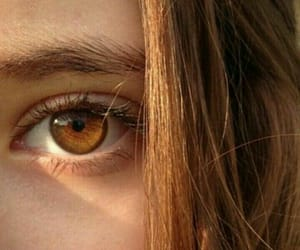 eyes, girl, and brown image
