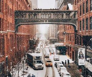 christmas, new york, and snow image