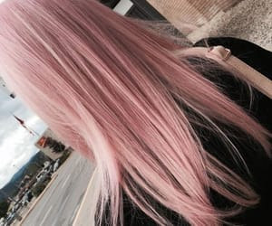 aesthetic, pink, and hair image
