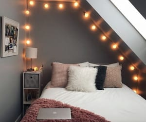 light, bedroom, and home image