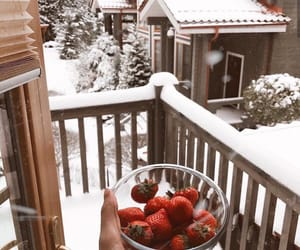 strawberry and winter image