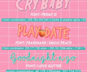 crybaby, fonts, and peach image