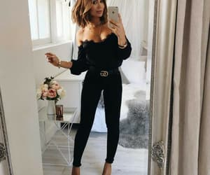 outfit, black, and fashion image