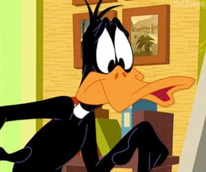 90s, cartoon, and daffy duck image