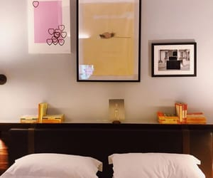 art, interior, and bedroom image
