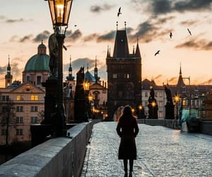 city, travel, and prague image
