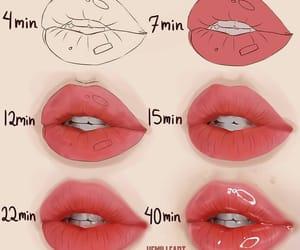 beauty, eye liner, and lips image