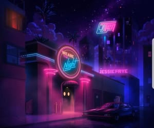 fancy, babypink, and night image