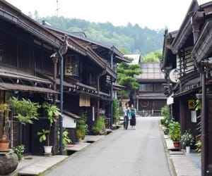 city, japan, and town image
