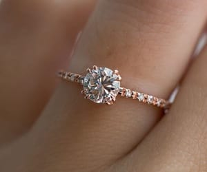 chic, ring, and wedding image