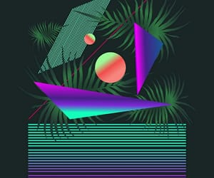 aesthetic, green, and v a p o r w a v e image