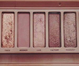 rose gold, makeup, and pink image