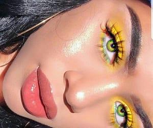 makeup, eyeshadow, and yellow image