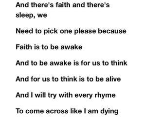 faith, song, and think image