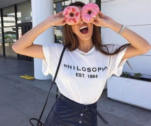 donut, donuts, and leather skirt image