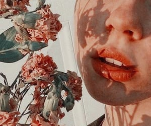 flowers, aesthetic, and lips image