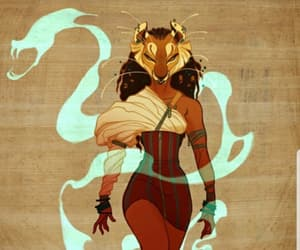 sekhmet, animal, and art image