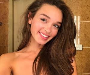 beautiful, model, and dark hair image