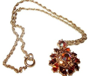 etsy, vintage jewelry, and amber pendant image