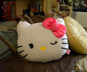 hello kitty, photography, and pillow image