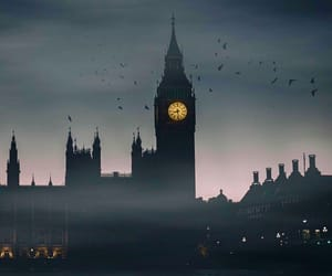 fog, london, and night image