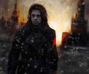 red star, winter soldier, and bucky barnes image