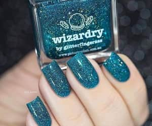 glitter, nailart, and manicure image