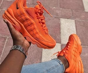 nike, orange, and sneakers image