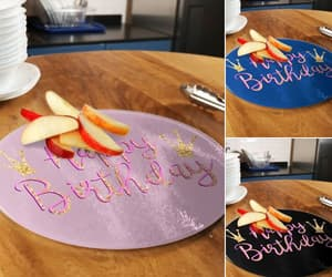 birthday, happy birthday, and cutting board image