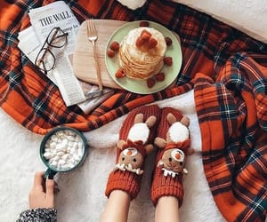 winter, christmas, and pancakes image