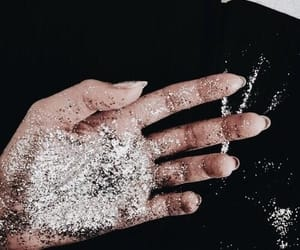 glitter, hand, and silver image
