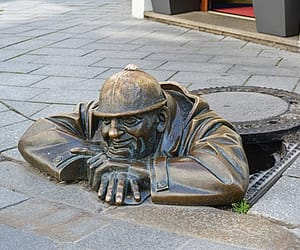 bratislava, old town, and sculpture image