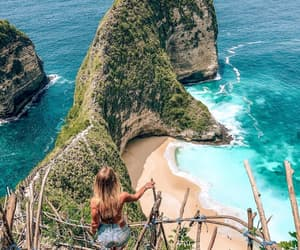 bali, beach, and girl image