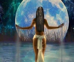 moon, goddess, and night image