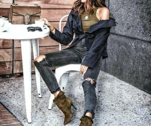 bag, coffee, and moda image