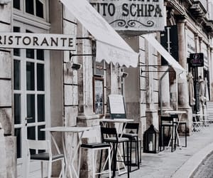 architecture, exterior, and cafe image