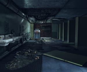 bathroom, creepy, and dark image