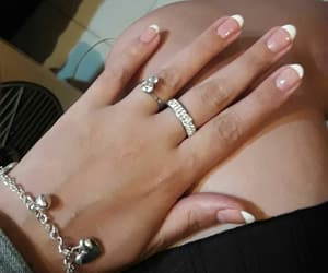 manicure, french nails, and nails image