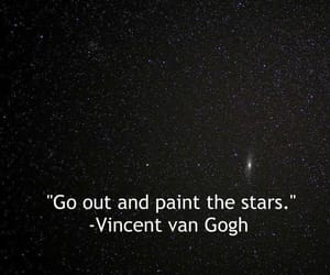 quotes, stars, and van gogh image