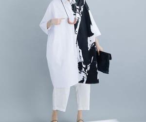 etsy, women shirt, and cotton shirt dress image
