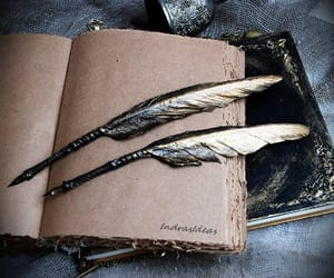 ravenclaw, feather, and book image