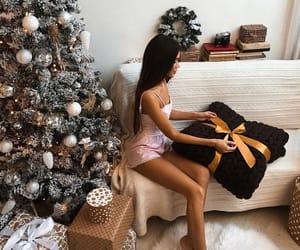 christmas, present, and christmas tree image